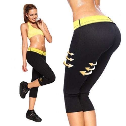 Pantaloni fitness pentru slabit din neopren-0